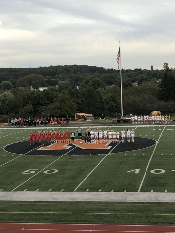 The girls soccer team lines up for their first round of counties against Susquehannock. The lady Wildcats won the game 3-1, moving on to the second round, where they faced Central for the fourth time this season.