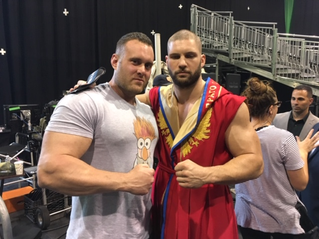 DHS grad Mark Haynes (left) was body double for Florian Munteanu (right) during the filming of Creed II.