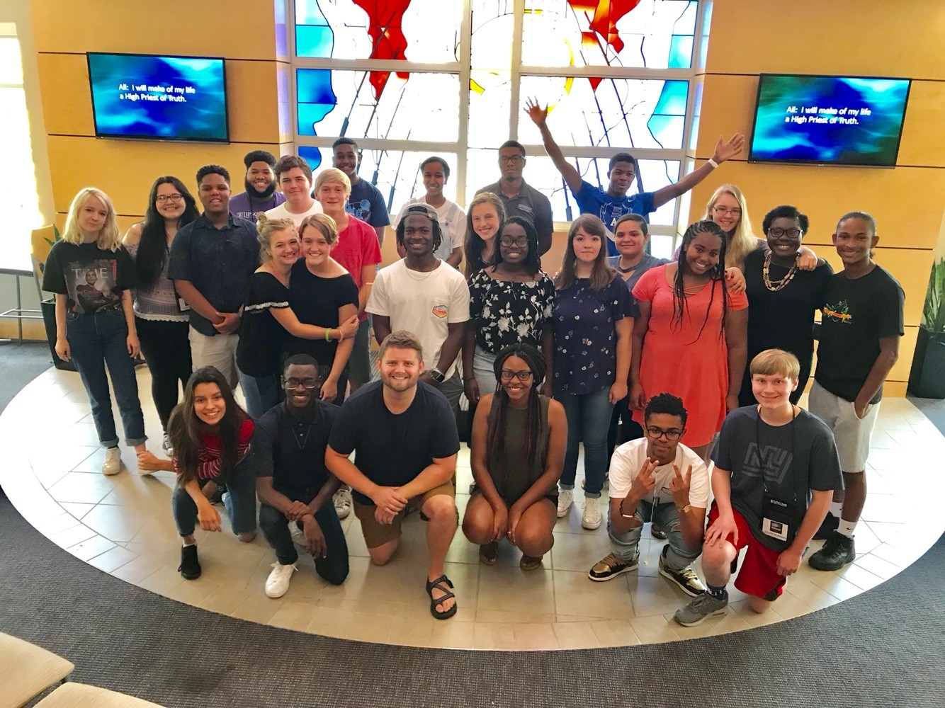 After ten days of crying together, laughing together and discussing  issues such as racism, diversity and Civil Rights, the participants of Engage had a hard time saying goodbye. This final photo together was taken at the closing ceremony.