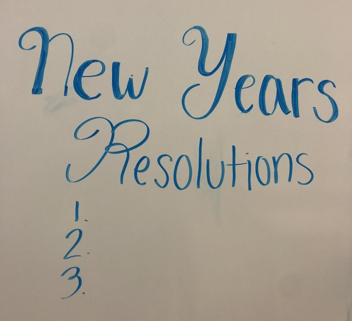 New Year's Resolutions are sometimes hard to keep. Experts suggest making lists and placing reminders to stay focused on goals.