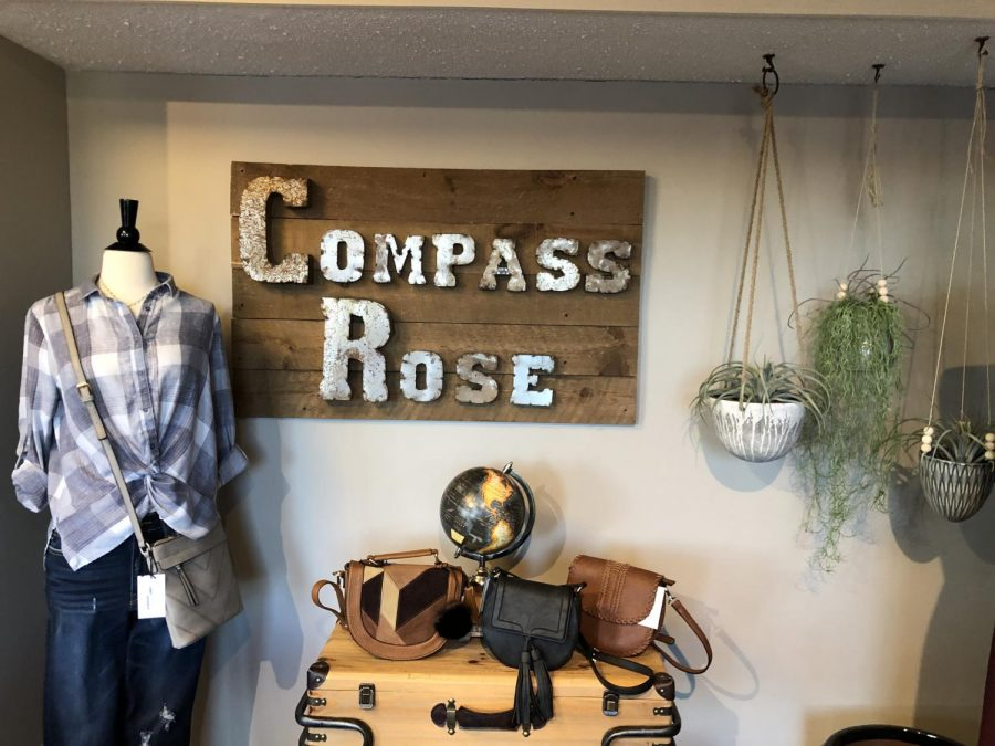 Compass+Rose+is+a+small+boutique+in+Tollgate+Village+that+is+owned+by+Dallastown+graduate+Holly+Wagman.+Wagman+majored+in+Biology+in+college+but+her+love+of+fashion+led+her+in+a+different+direction.+