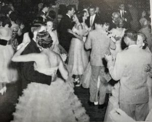 Students dance the night away at a Dallastown High School prom in the 1950s. Until 1986, all Dallastown proms were held in the high school, either in the gym or the front lobby.
