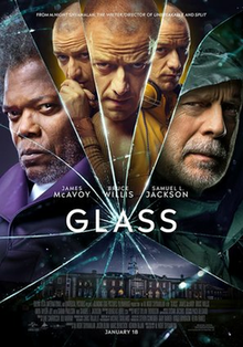 The movie Glass was released on January 18th, starring Samuel L. Jackson, James McAvoy, and Bruce Willis.