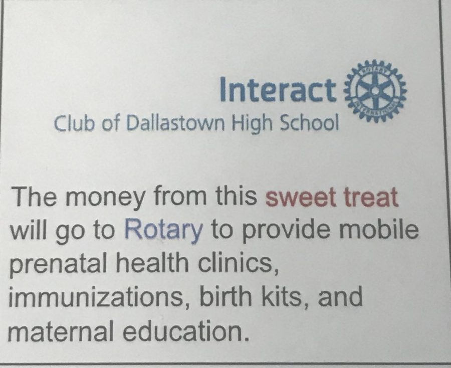 Members of Interact plan to hold a bake sale to donate money to Rotary. The club hopes to make a difference in our area.