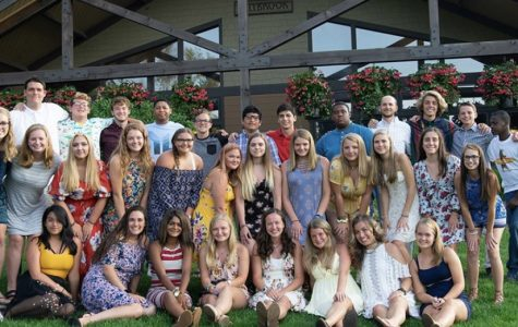 Dallastown's Young Life group at summer camp, in front of the game room at Lake Champion. This was formal night, so all of the campers dressed their best.