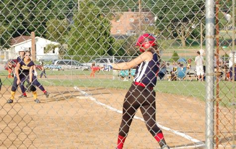 A JLS player is up to bat in a game gainst Hellam. The Jacobus Loganville Springfield (JLS) rec team is the most popular among Dallastown girls.