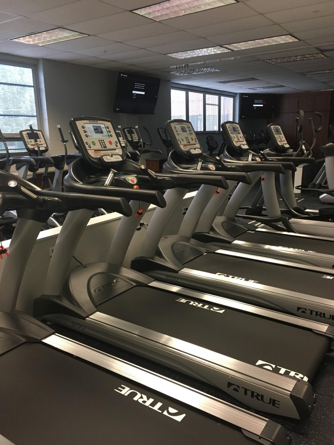 This past summer, Dallastown created a new fitness room in the back gym hallway in the space that was once two health classrooms.  The room is now open to club members during Wildcat Periods to exercise at their own pace.