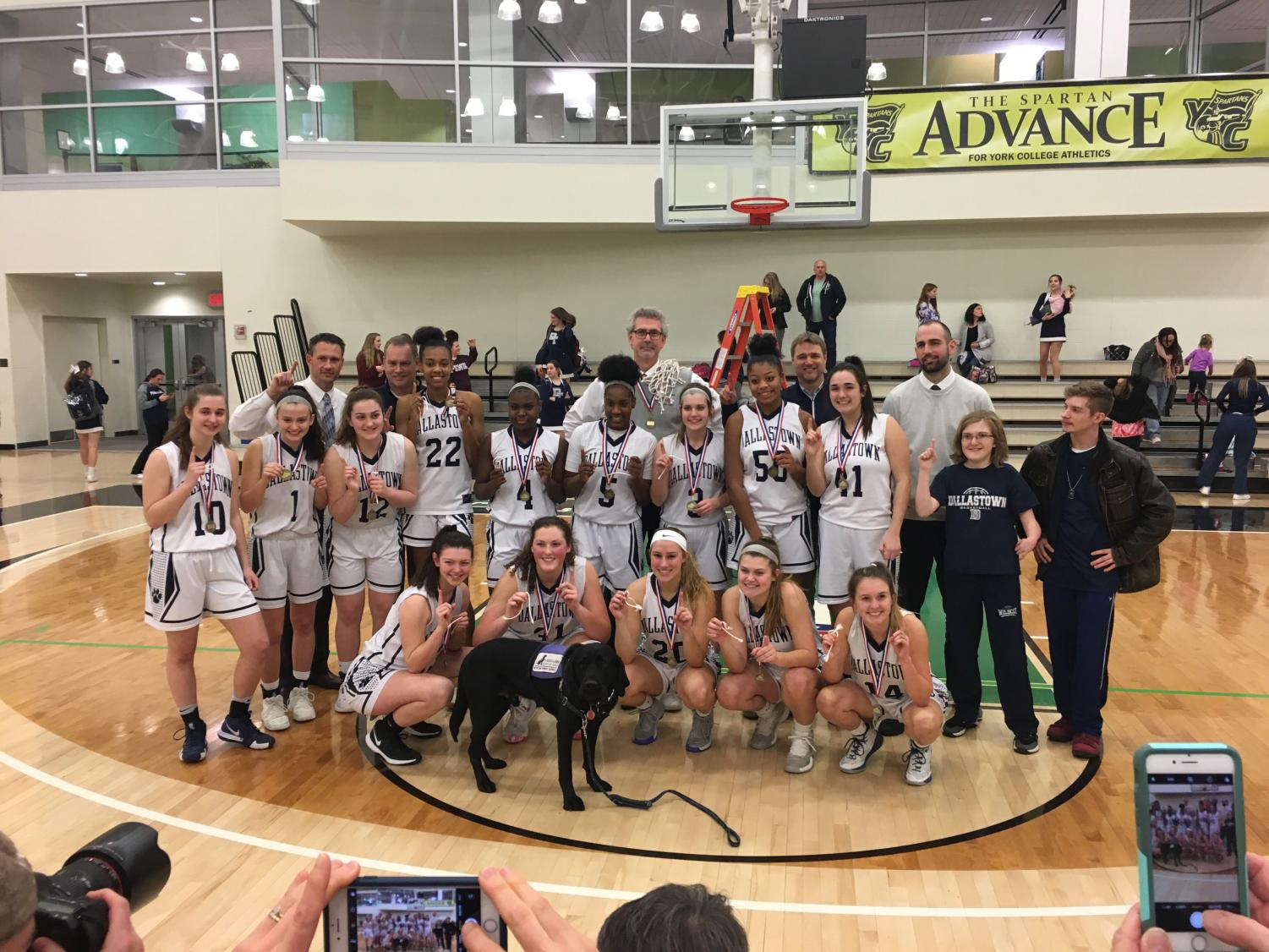 The Dallastown Girl's Basketball team beat Spring Grove in the county championship on February 24, 2019 at York College.