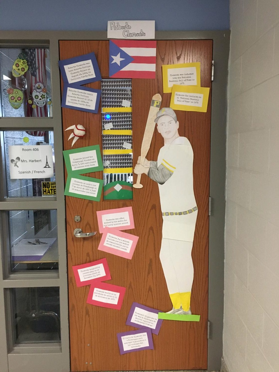 Mrs.+Harbert%27s+homeroom+submitted+the+baseball+player+Roberto+Clemente.++They+incorporated+facts+about+him+and+his+baseball+career.+