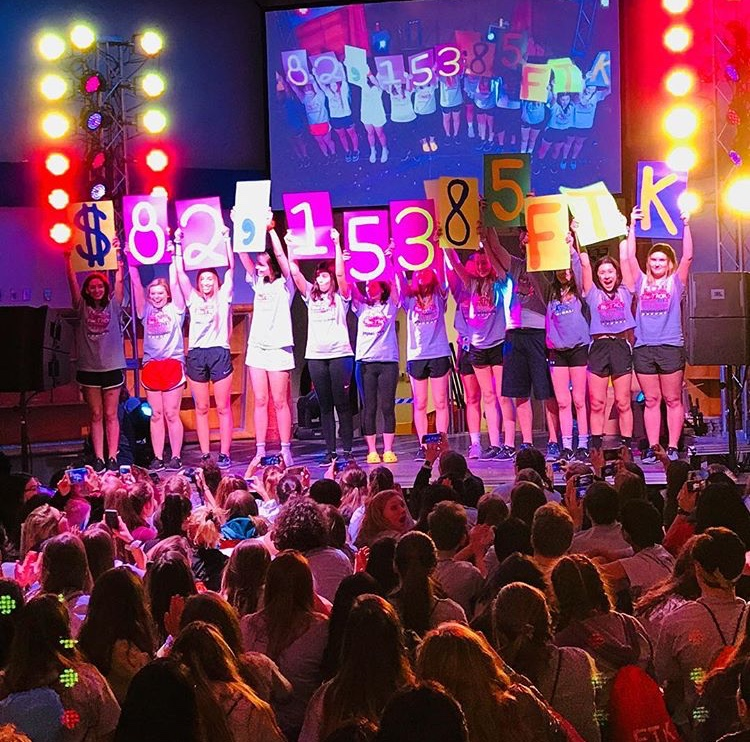 Over+%2482%2C000+was+raised+at+Dallastowns+5th+annual+mini-THON.+Held+on+March+1st+through+the+2nd%2C+students+stayed+standing+and+awake+for+twelve+hours+to+raise+money+for+the+Four+Diamonds+Foundation.+At+the+conclusion+of+the+event%2C+the+student+chairs+revealed+the+total%2C+which+beat+their+goal+of+%2475%2C000+FTK.+