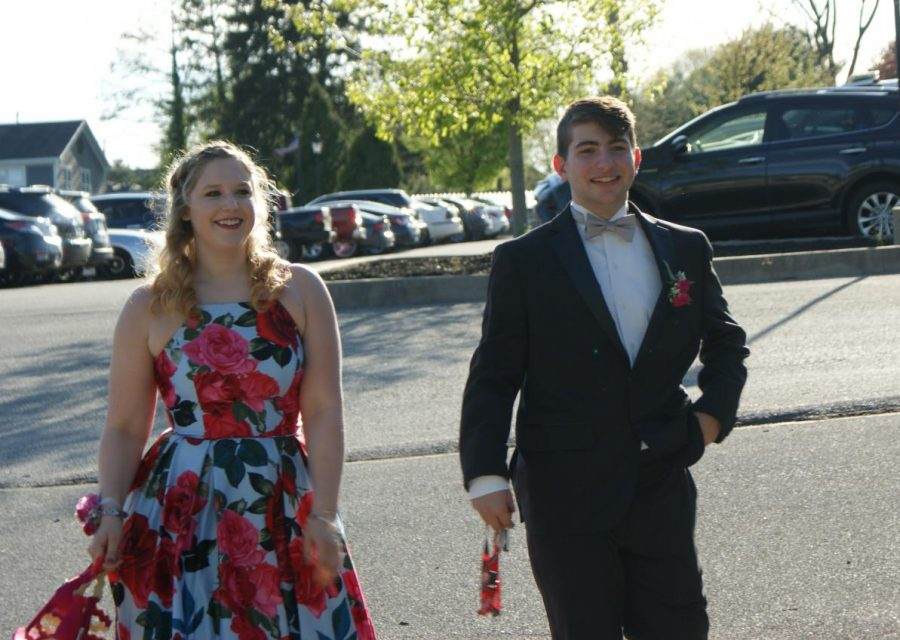 Seniors and their guest make their way into Wisehaven Event Center for Dallastown Prom on Saturday, April 27, 2019.