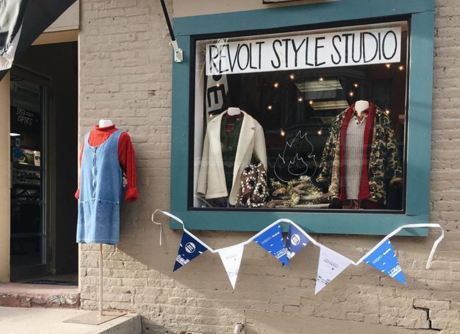 Located on 26 N Beaver St, Revolt Style Studio's storefront was decorated in a blue and white banner  on Nov. 30 in celebration of Small Business Saturday.