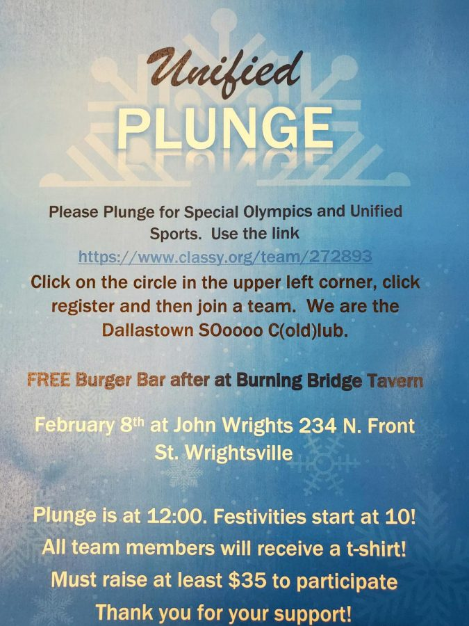 This+Dallastown+Polar+Plunge+flyer+has+important+information+concerning+the+date%2C+time%2C+and+location+of+the+event.+