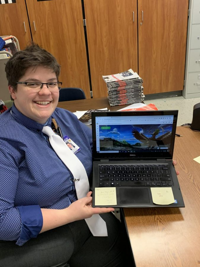 English teacher Mrs. Newcomer is using the classroom tool Classcraft as a way to motivate students.