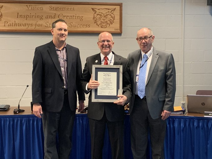 Dallastown Area School District honored Dr. Dyer at his last board meeting on Thursday, Dec. 12. He finished his 45 years of service to the community at the beginning of the new year.