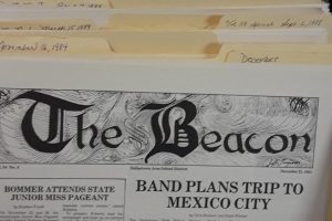 The Beacon Archives in Ms. Gable's room have issues from almost every year since 1929