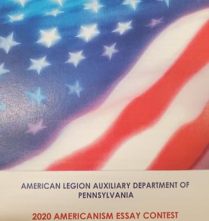 The Americanism Essay is a contest hosted by the American Legion Auxiliary Department of Pennsylvania. The Essay contest is held annually and deals with topics about America and American soldiers