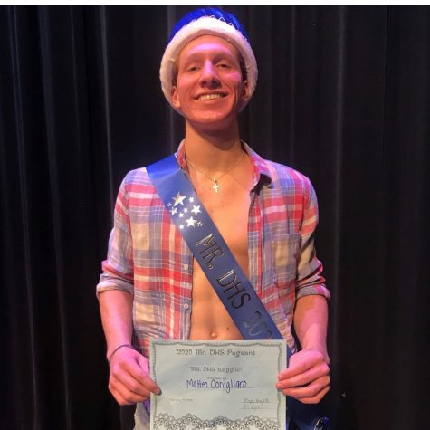 Senior Matteo Conigliaro was crowned Mr. DHS 2020 after all eight contestants competed in three main categories: the group dance, the talent competition, and the fashion and Q & A portion.