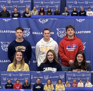 Gabe Norwood, Riley Thomas, Mason Bowman, Sydney Ohl, Shauna Stotler, and Camryn Eveler are six Dallastown student-athletes who signed National Letters of Intent on Dec. 12. These athletes will be attending college in the Fall of 2021 to continue their sports and further their academic studies.