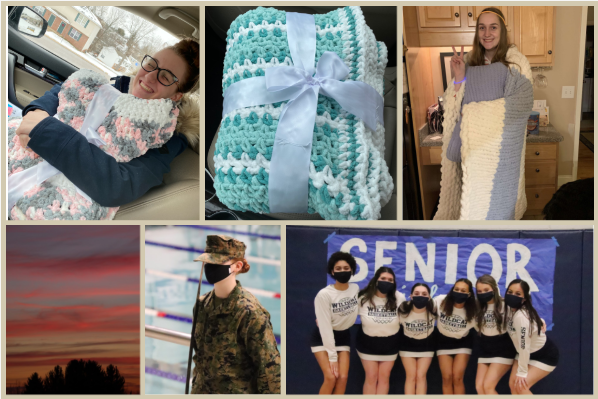 The three pictures across the top are crocheted blankets by Chloe Fleurie. The bottom pictures are Hanna Atkinson's favorite photos she's taken.