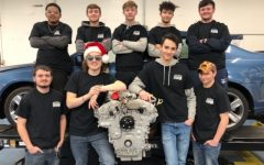 Dallastown Class of 2019 Graduates pose for a holiday photo at HACC Academy. These graduates participated in the automotive program at HACC, one of the many opportunities available to seniors.