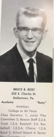 Bruce Rost was very involved at Dallastown during high school. He was a member of several sports teams, several music groups, and The Beacon. He was also the first ever Willy the Wildcat.