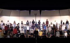 The concert choir rehearses and performs for a recording to be sent to Disney. All the music ensembles sent recordings to Disney in hope to participate in a music competition there next year, and all the ensembles were accepted.