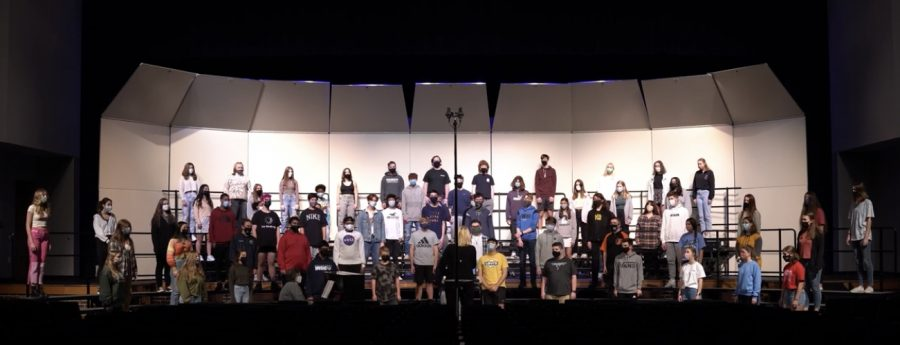 The+concert+choir+rehearses+and+performs+for+a+recording+to+be+sent+to+Disney.+All+the+music+ensembles+sent+recordings+to+Disney+in+hope+to+participate+in+a+music+competition+there+next+year%2C+and+all+the+ensembles+were+accepted.