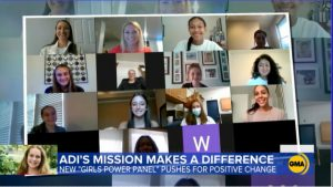 DHS sophomore Ainsley Ellis (pictured second row left) was featured on Good Morning America last month as a part of the Girls Power Panel.