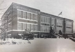 The Dallastown Elementary School building was used as the Dallastown High School and Dallastown Middle School building until the relocation in 1959. This photo is captured in the 1945-46 yearbook, 13 years before the relocation.